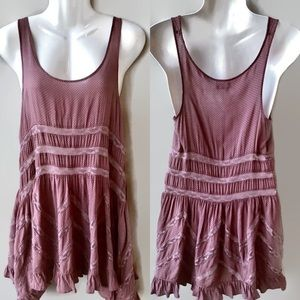 Free People Intimately Voile Trapeze Slip Dress,XS